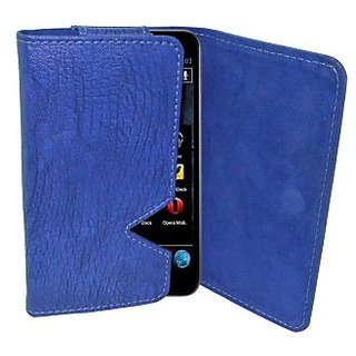 Totta Wallet Case Cover for Salora Njoy X E7 (Blue)