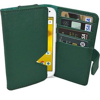 Totta Wallet Case Cover for Motorola Moto Turbo (Green)