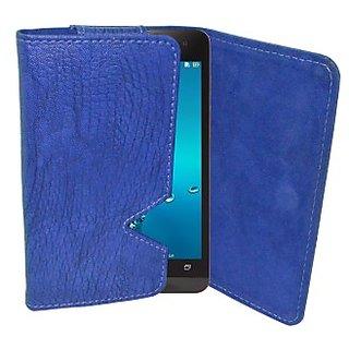 Totta Wallet Case Cover for Salora Njoy X E8 (Blue)