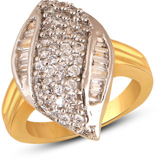 Inaya White Brass  Copper ring Women