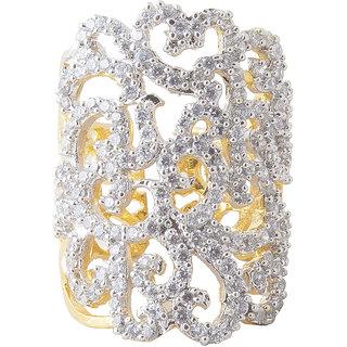 Inaya White Brass  Copper  Women Ring.