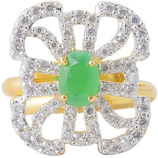 Inaya Green Color ring for Women