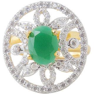 Inaya Green Brass  Copper ring