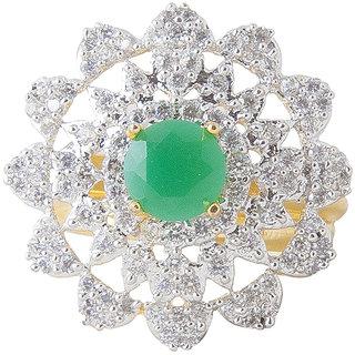 Inaya Green Brass  Copper Women ring