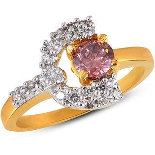 Inaya Maroon Brass  Copper Women Ring