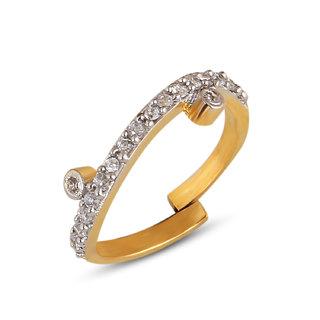 Inaya White Brass  Copper Women ring,