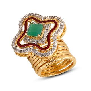 Inaya Multi Colour Brass  Copper Ring