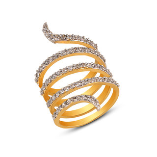 Inaya White Brass  Copper Traditional Ring for Women