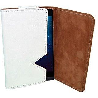 Totta Wallet Case Cover for Zen Ultrafone Amaze 701 FHD (White)