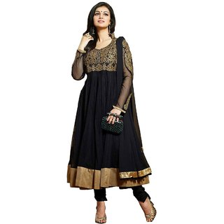 Ayesha Takia Black Semi Stitched Georgette Anarkali Suit