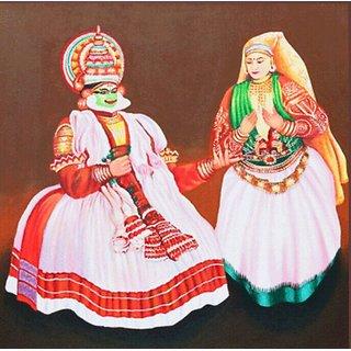 Kathakali in canvas