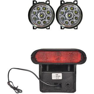 Combo of 9 LED fog lamp +  Brake Light for Toyota Etios