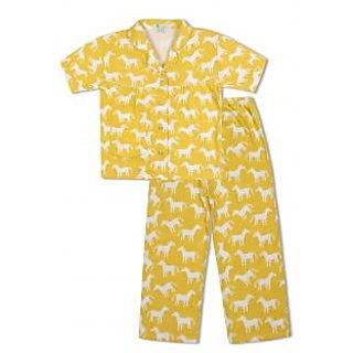 GreenApple Girls Organic Cotton Horse Pattern Pyjama Set