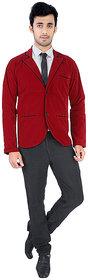 Velvet Red Blazer