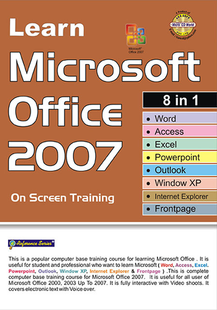 Learn Microsoft Office 2007 8 IN 1 (4 CDs) - English