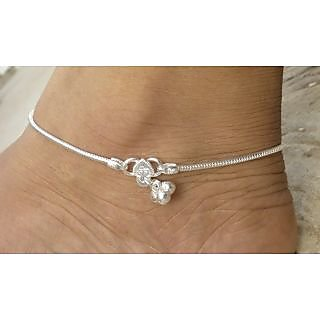 Ankit Collection Sterling Silver Anklet (Payal) Set for Women (AC171AK)