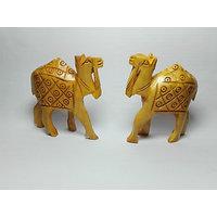 Hand Made Wooden Camel Pair Handicraft Home Decor Or Gift Bestunique