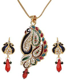 The Pari Muticolor Gold Plated Necklace Set For Women