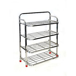 Steel Standard Shoe Rack 4 Shelves  Storage   Display