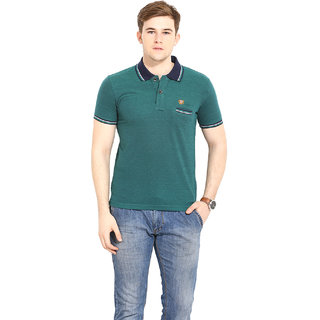 ab9de072 Buy Duke Duke Stardust Green Cotton Blend T-Shirt For Men Online ...