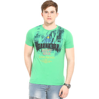 Duke Duke Stardust Leaf Green T-Shirt For Men