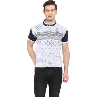 Duke Duke Stardust M.Grey Melange Cotton Blend T-Shirt For Men