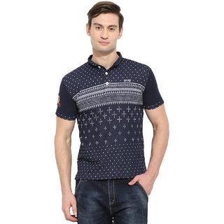 Duke Duke Stardust Navy Cotton Blend T-Shirt For Men