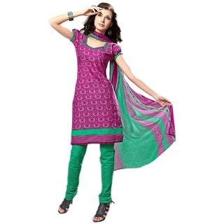 AlviraFab Purple Satin Cotton Unstitched Dress Material(AF2003)Purple