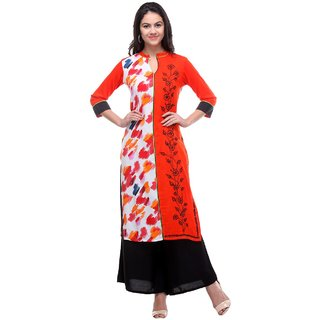 Multi-colour Rayon Stitch Kurti