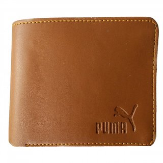 Men Brown Genuine Leather Wallet
