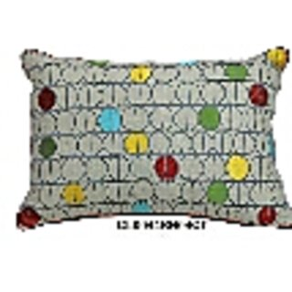 Cotton Chambray embroidered Cushion