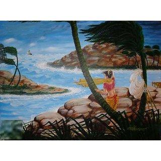 Acrylic Canvas Painting Size 40x30
