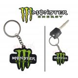 Rubber Monster M Keychain Keyring For Bike Car