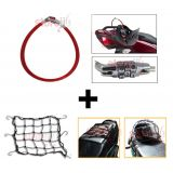 Bike Utility Combo Of Multipurpose Number Lock And Bungee Cargo Net For Helmet Luggage