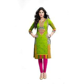 Womens Faux Cotton Salwar Suit Dress Material