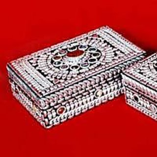 Jewellery Vanity Box - silver