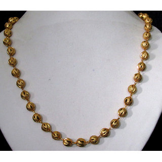 Big Golden Ball Chain Necklace