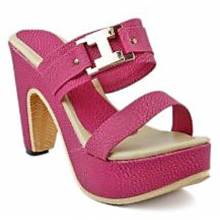 BLUE-TUFF Girls Red Heels wedges Sandal 061-Pink