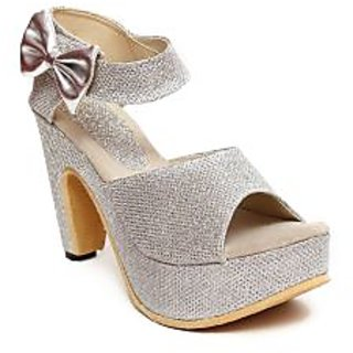 Blue Tuff Women's Silver Heels