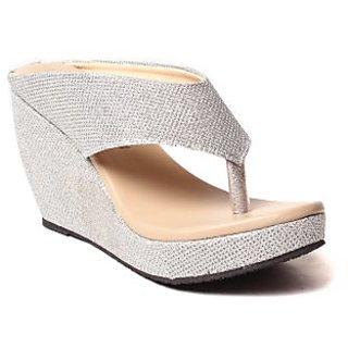 BLUE-TUFF Girls Heels wedges Sandal 064-Silver
