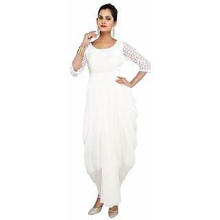 White Valvet Gown