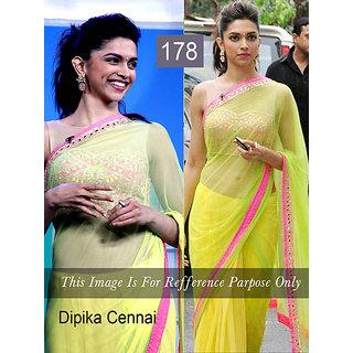 b3fc5b23aac25 Shop Deepika Chennai Express Stunning Neon Green Saree Online ...