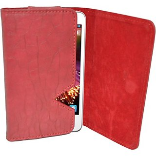 Totta Wallet Case Cover for Alcatel Pop D5         (Red)