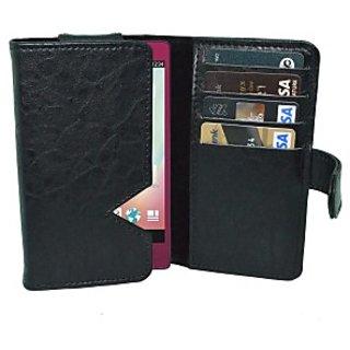 Totta Wallet Case Cover for Lenovo Vibe S1         (Black)