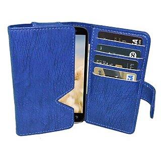Totta Wallet Case Cover for Lenovo S90 Sisley         (Blue)