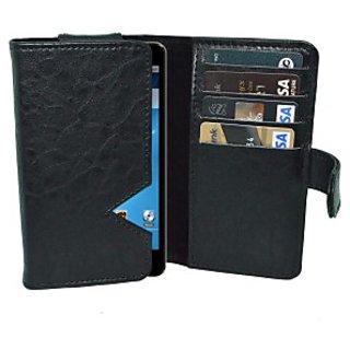 Totta Wallet Case Cover for Intex Aqua N15         (Blue)