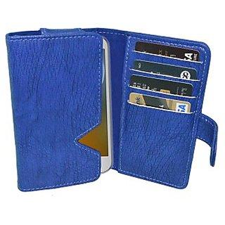 Totta Wallet Case Cover for Karbonn Titanium Dazzle 3 S204         (Blue)