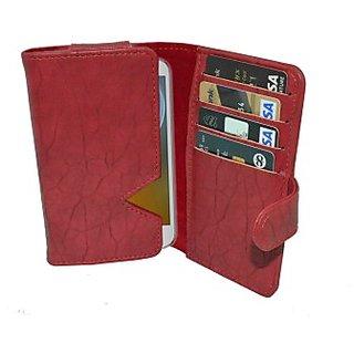 Totta Wallet Case Cover for Karbonn A12         (Green)