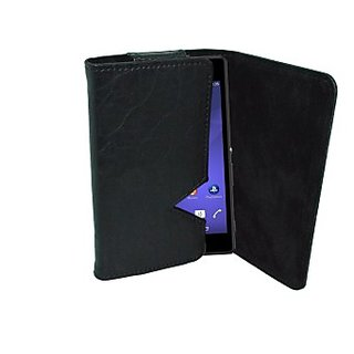 Totta Wallet Case Cover for Sony Xperia SL         (Black)