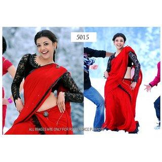 Kajal Red Saree